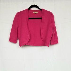 Michael Kors Pink Cashmere Shrug S
